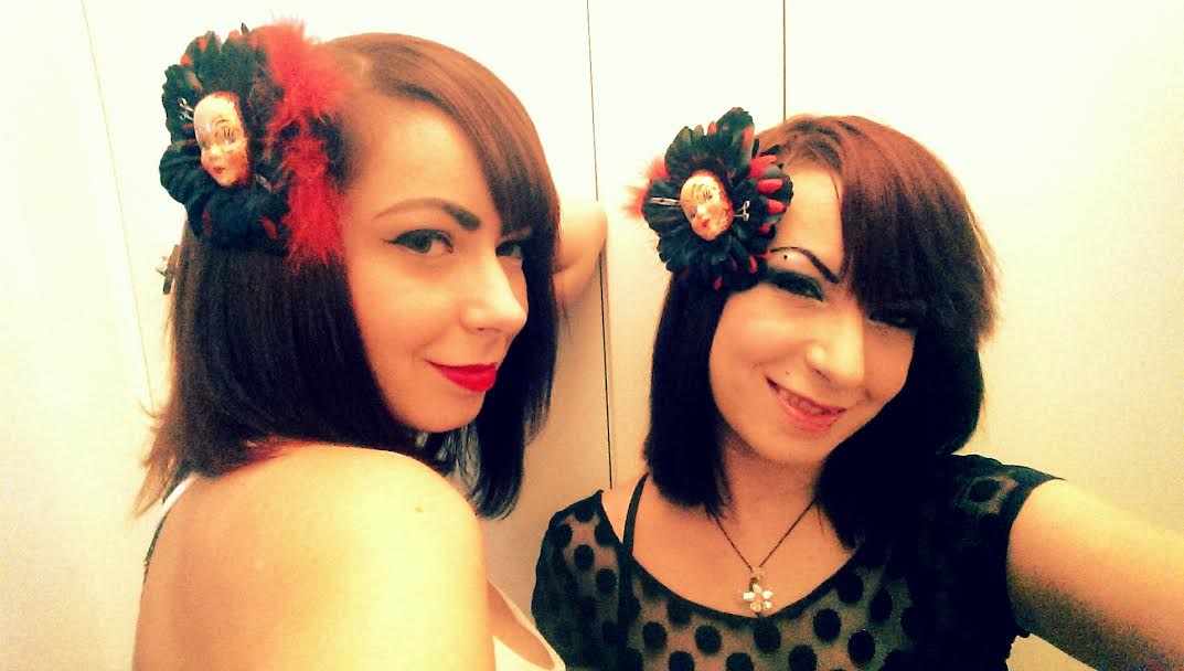 Sylvia & Jen Soska rock their American Mary Barrettes made by Living Dead Girl Nicole