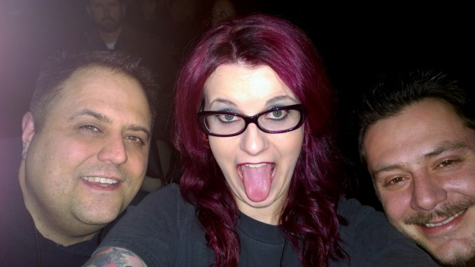 My brother Mike, Me and my husband Frank EXCITED!