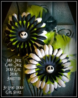 Bad and Good Jack Barrettes Made By Living Dead Girl Nicole