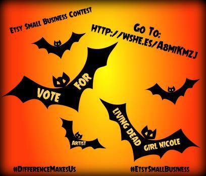 125-Bats-On-Orange-Free-Halloween-Vector-Clipart-Illustration