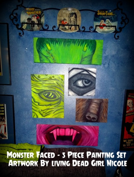 Monster Faced Paintings