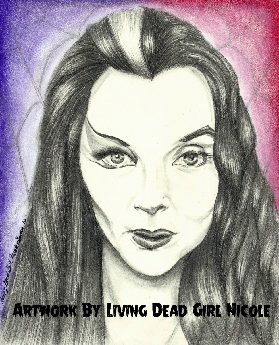 Mommy Weirdest Lily Munster Morticia Addams Split Face Portrait By Living Dead Girl Nicole