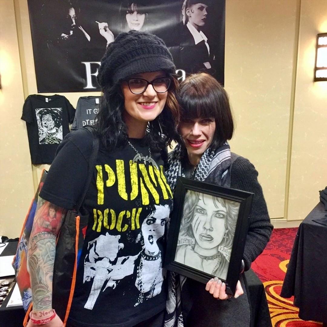 Artist Living Dead Girl Nicole with Actress Artist Musician Fairuza Balk