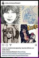 "Living Dead Girl Nicole's ""Yours Cruelly"" portrait featured on Elvira's Instagram Page"