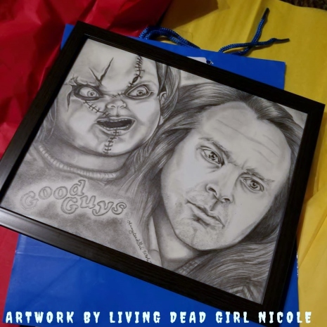 Original Chucky Brad Dourif Friends Til The End Portrait Living Dead Girl Nicole