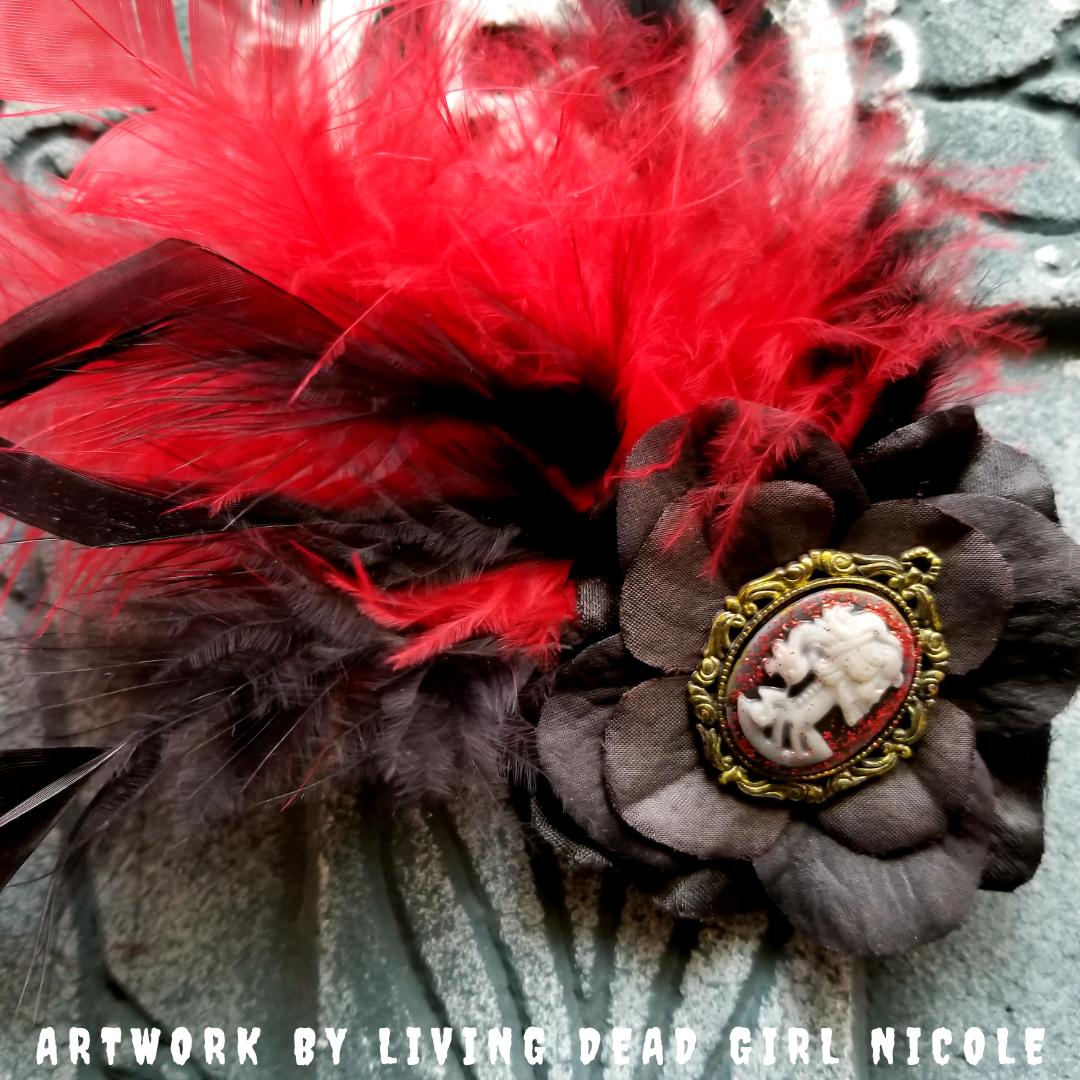 Living Dead Girl Nicole Cameo Gothic Burlesque Barrette