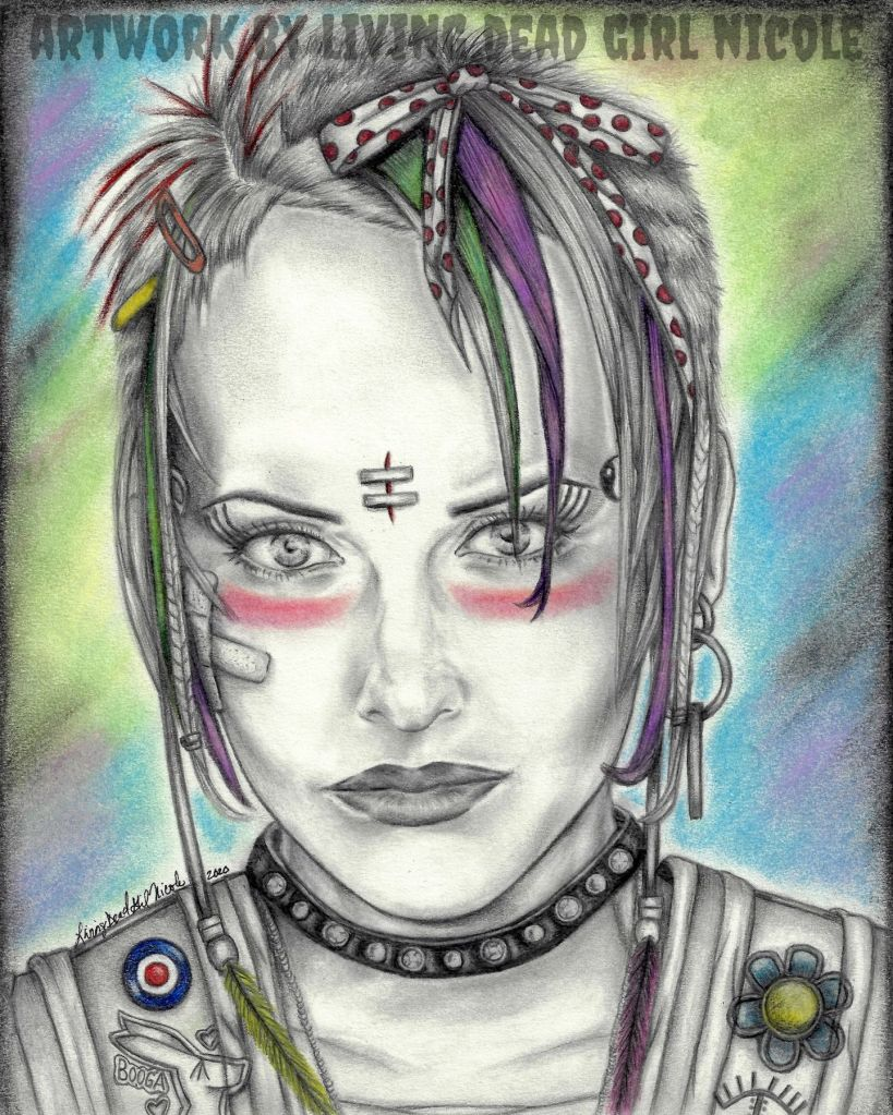 Living Dead Girl Nicole's Lori Petty Tank Girl Portrait Fan Art